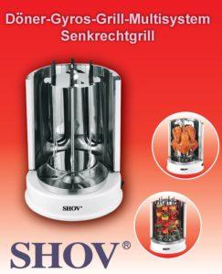 Mini Dönergrill für zuhause - Syntrox Germany RO-1400W Grill für Döner, Hähnchen, Schaschlik, Fisch und mehr