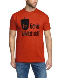 Coole-Fun-T-Shirts Herren T-Shirt Der Gerät schwitzt nicht ! Döner